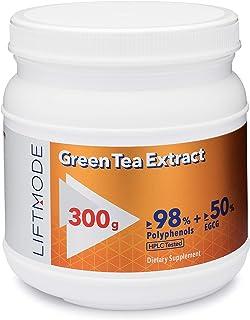 LiftMode Green Tea Extract Pure Bulk Powder Supplement - Natural Fat Burner for Weight Loss, Healthy Heart & Antioxidant |...