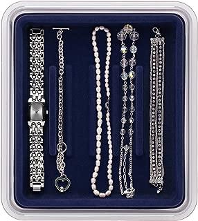 Neatnix Stax Jewelry Bracelet Organizer Tray, Midnight Blue