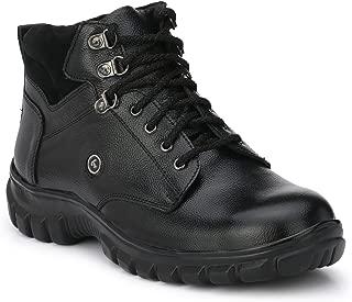 Fashion Tree Timberwood Genuine Leather Steel Toe Safety Shoe For Men, Twlt (Black, Size: 10)