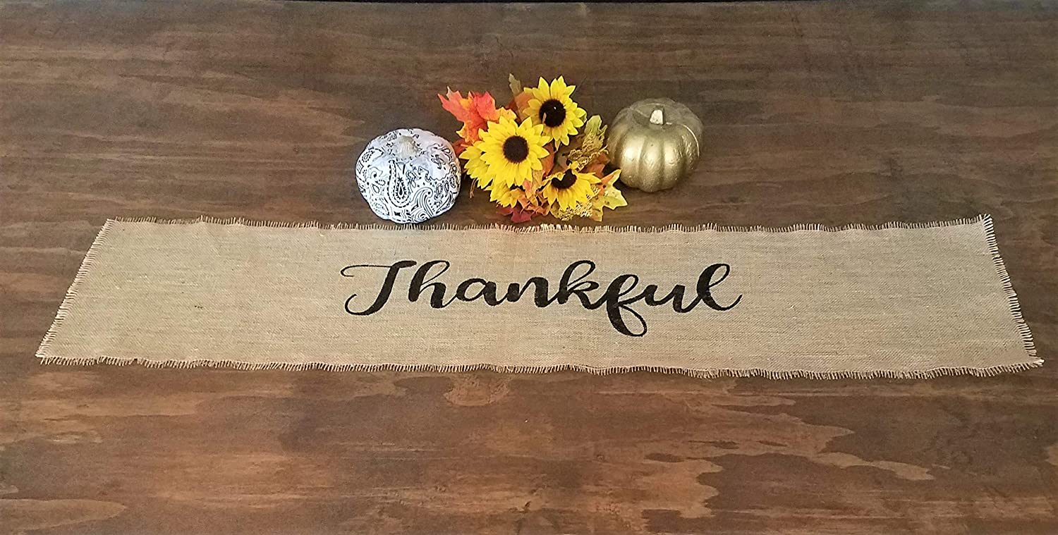 Burlap Thanksgiving Table Runner specialty shop Than Great interest Fall Rustic