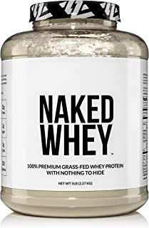 Naked WHEY 1LB 100% Grass Fed Unflavored Whey Protein Powder - US Farms, Only 1 Ingredient, Undenatured - No GMO, Soy or G...