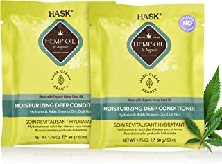 HASK Beauty HEMP SEED OIL Deep Conditioner Treatments for all hair types, color safe, gluten free, sulfate free, paraben f...