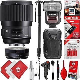 Sigma 135mm f / 1.8DG HSM Artレンズfor Canon EF DSLRカメラ+ 16GB 17pcバンドルfor 80d、77d、70d、60d、60da、50d、7d、6d、5d、5ds、1ds、t7i、t7s、t7、t6s、t6i、t6、t5i、t5、sl2and sl1