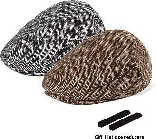 57a00411dc7 LADYBRO Men Newsboy Cap Ivy Hat - 30% Wool Cabbie Hats for Men Irish Tweed