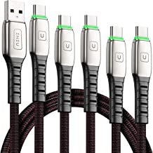 USB Type C Cable, [5 Pack 3.1A] Quick QC3.0 Fast Charging USB C Cable, INIU (1.6+3.3+3.3+6.6+6.6ft) Nylon Phone Charger USB-C Cables for Samsung Galaxy S20 S10 S9 S8 Plus Note 10 9 LG Google Pixel etc