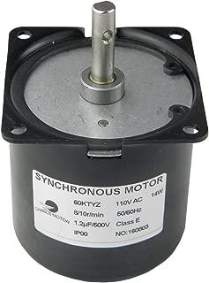 60KTYZ Synchronous Gear Motor AC 110V 8/10RPM CW/CCW Direction Control 14W For Food Machinery