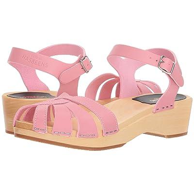 Swedish Hasbeens Cross Strap Debutant (Bubble Gum Pink) Women