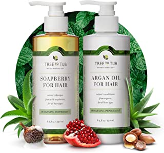 Peppermint Shampoo and Conditioner by Tree to Tub - Sulfate Free for Sensitive Scalp and Hair - pH 5.5 Balanced Duo with S...