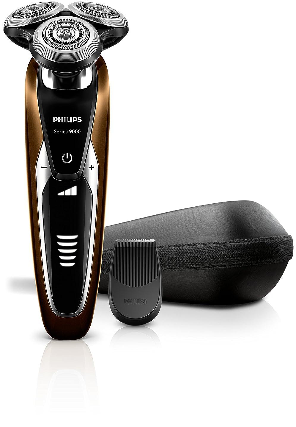 上下する最終的に事件、出来事フィリップス 9000シリーズ メンズ 電気シェーバー 72枚刃 回転式 お風呂剃り & 丸洗い可 トリマー付 S9511/12