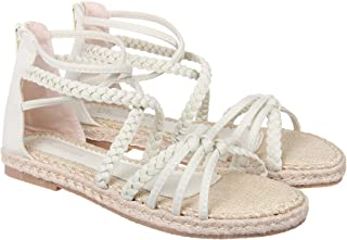 Footilicious Solid Off White Coloured Synthetic Gladiators