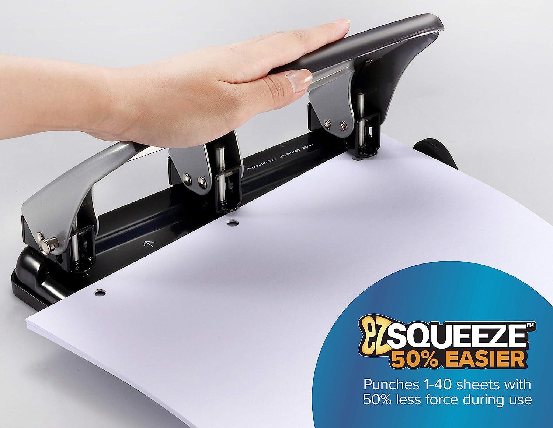 HP40 Bostitch EZ Squeeze 40 Sheet 3-Hole Punch