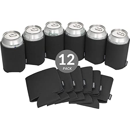 Blank Can Coolers Black Can Coolers Black Can Huggers Packs Assorted Colors Can Holders for Personalization Cheap Party Favors DIY Crafts