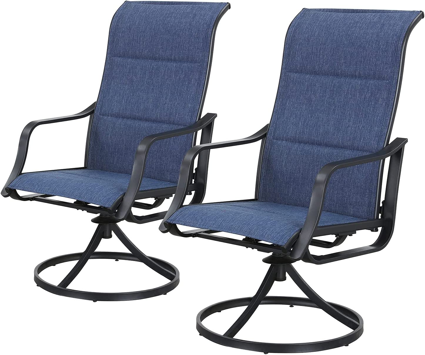 We OFFer at cheap prices Top Space Patio Dining Chairs Sale 2 Rock Outdoor Metal Pieces Swivel