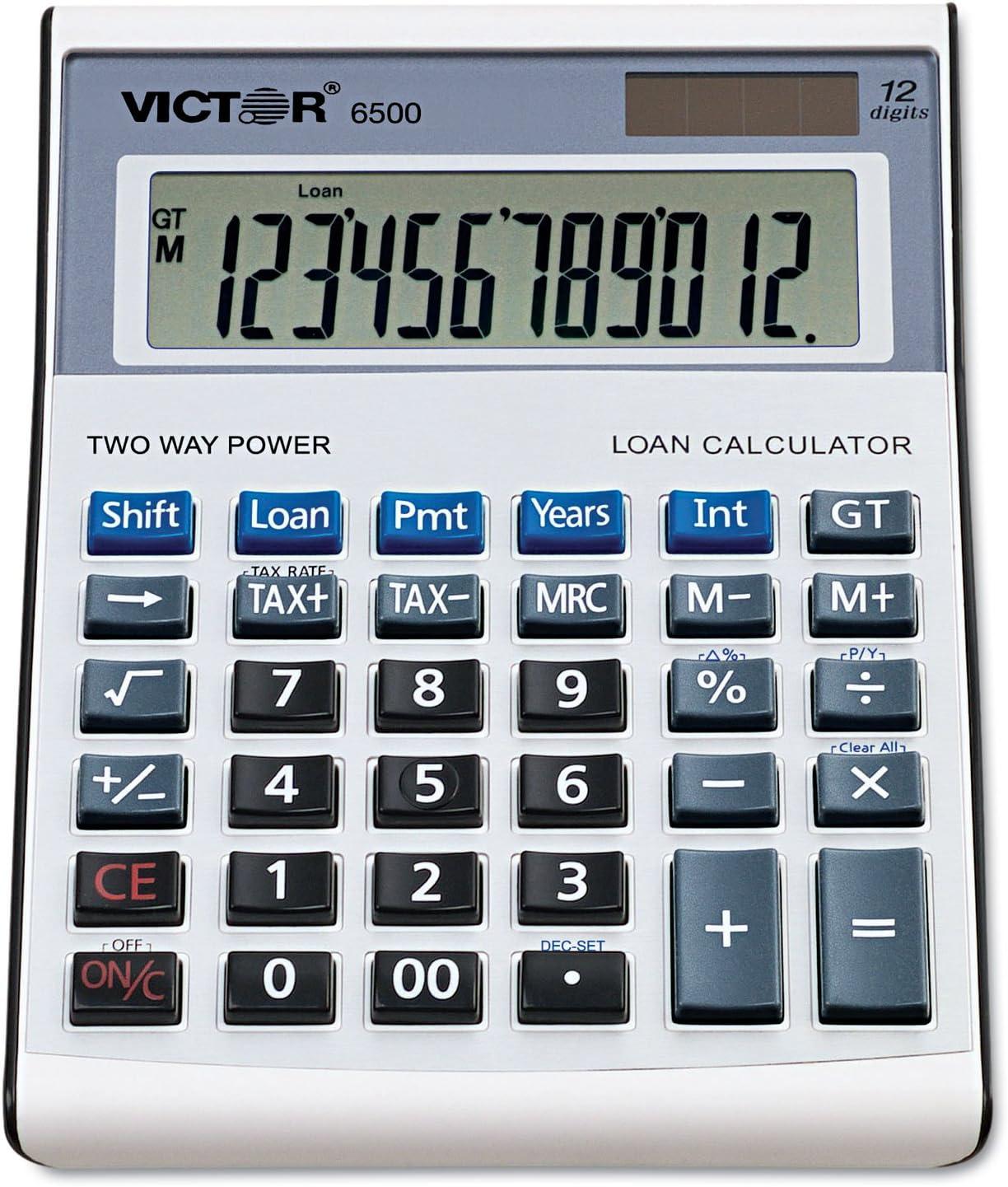 VICTOR TECHNOLOGIES 6500 famous Executive Loan Max 72% OFF 12- Desktop Calculator