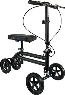 KneeRover Economy Knee Scooter Steerable Knee Walker Crutch Alternative with Dual Braking..