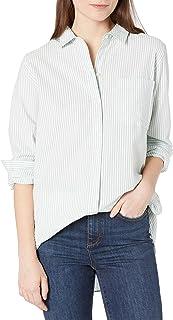 Marque Amazon - Goodthreads Seersucker Long-sleeve Side-button Shirt - shirts - Femme