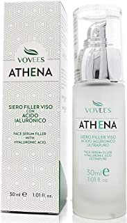 VOVEES Athena - Siero Viso Antirughe - Acido Ialuronico Bio Puro - Immediato - Made in Italy, 30Ml