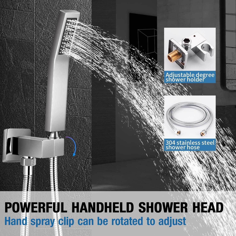 Buy Qomolangma 20 inches Bathroom Shower System Chrome Bath Rain ...
