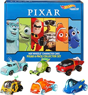 Hot Wheels Character Cars 6-Pack: Disney and Pixar, 6 1:64 Vehicles for Collectors and Kids 3 Years Old & Up [Amazon Exclu...