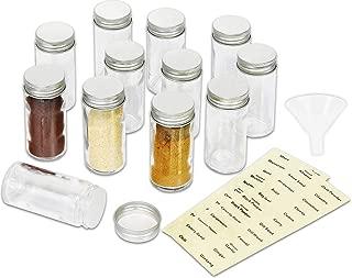 SimpleHouseware 12 Spice Bottles w/label Set