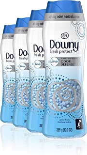 Downy Fresh Protect in-wash Scent Booster Beads, Active Fresh, 10 Ounce, 4 Count