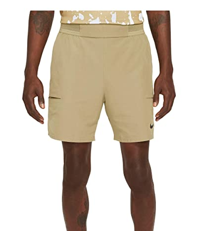 Nike Nike Court Flex Advantage Shorts 7 (Parachute Beige/Black) Men