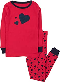 Leveret Kids Pajamas Boys Girls Hearts Birthday 2 Piece pjs Set 100% Cotton (Size 12 Months-14 Years)