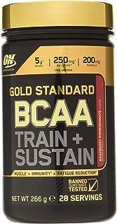 Optimum Nutrition ON Gold Standard BCAA Polvo, Suplementos Deportivos con Aminoacidos, Vitamina C y Magnesio para Musculation, Frambuesa y Granada, 28 Porciones, 266g