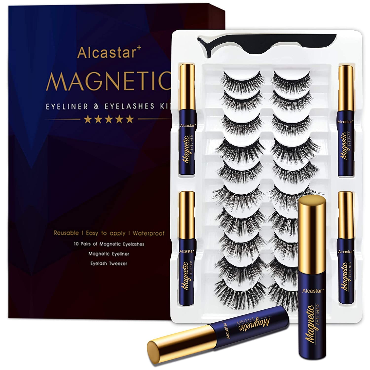 Magnetic Eyelashes trust with Eyeliner Kit Pairs 10 an Lashes Max 57% OFF