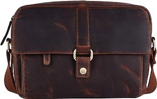 PICCO MASSIMO Genuine Leather Men/Women Sling Bag | 3 Zipped Pockets | 2 Open Pocket Sleeves | Zip & Snap Closure | Adjust...