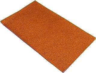 Shine Glitter Sheet Fabrics Back Stiff DIY Craft 12 Pack 8 x 13 Inch (Orange)
