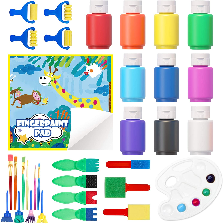 Washable Finger Paint Set Shuttle Pack wi Art Arlington Mall 33 Kids New Orleans Mall