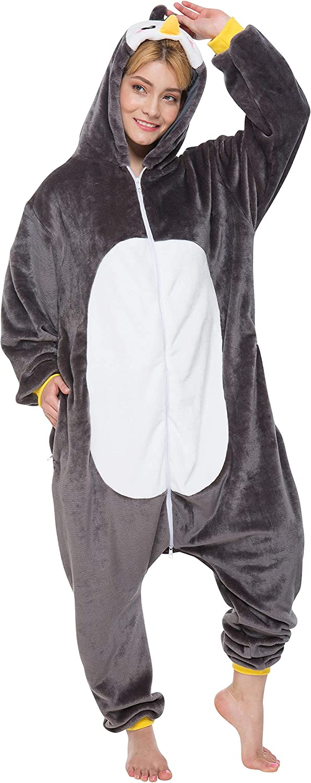 Corimori 1852 Pablo der Pinguin Damen Herren Onesie Jumpsuit Anzug Einteiler Kostüm Verkleidung Gr. 180 - 190cm, Schwarz B07L3C7Y3M Am wirtschaftlichsten  | Erschwinglich