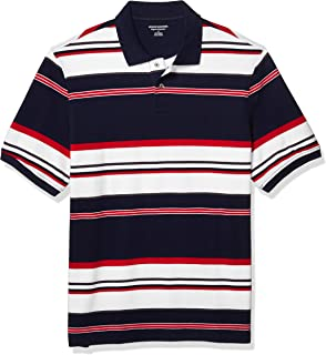 pipigo Mens Classic Fit Tee Solid Color Short Sleeve Polos Shirt Top T-Shirts
