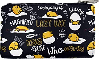 Loungefly x Gudetama the Lazy Egg Black Editorial Allover-Print Wallet