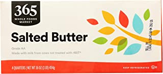 365 by Whole Foods Market, Butter, Salted (4 Quarters), 16 Ounce