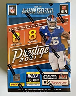 2021 Panini Prestige NFL Football BLASTER box (64 cards/bx) Look for Blaster Exclusive Diamond Parallel and Memorbilia Cards