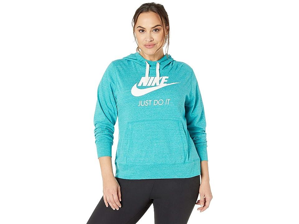 Nike Plus Size Sportswear Gym Vintage Hoodie HBR (Spirit Teal/Sail) Women