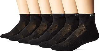 CHAPS mens Solid Athletic Quarter Socks 6 Pair