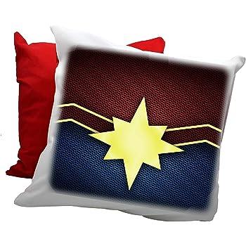 Captain Marvel Cuscino 1 Idea Regalo Comics Fumetti Fan Collezione Avengers Infinity War Guardiani della Galassia Film Regalo Divertente Decorazioni Compleanno Festa Sorpresa Amore