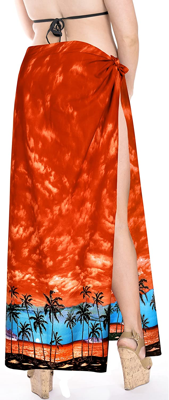 LA LEELA Mens Plus Size Swimsuit Sarong Lungi Swimwear Scarf Coverups Vacation