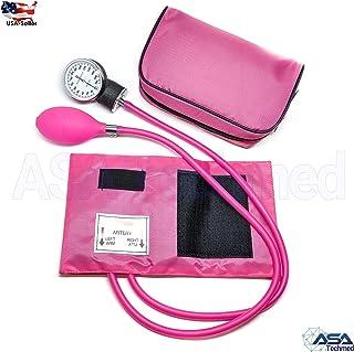 Manual Blood Pressure Monitor BP Cuff Gauge Aneroid Sphygmomanometer Machine Kit (Pink)