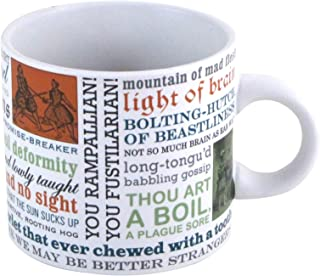 Shakespearean Insults Coffee Mug - Shakespeare's Wittiest and Meanest Insults - Comes in a Fun Gift Box