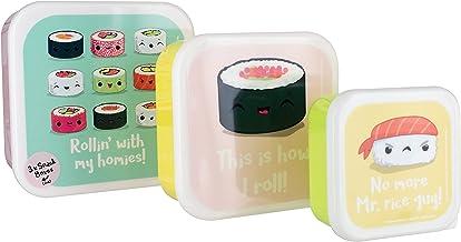 My Kawaii Sushi Snack Boxes, Mehrfarbig, 14 x 14 x 6 cm