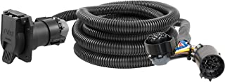 CURT 56000 10-Foot Vehicle-Side Truck Bed 7-Pin Trailer Wiring Harness Extension for Select Chevrolet, Dodge, Ford, GMC and Nissan Trucks