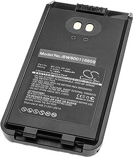 vhbw Li-Ion batería 1500mAh (7.4V) con Pinza para el cinturón para Radio, walkie-Talkie como Icom BP-280