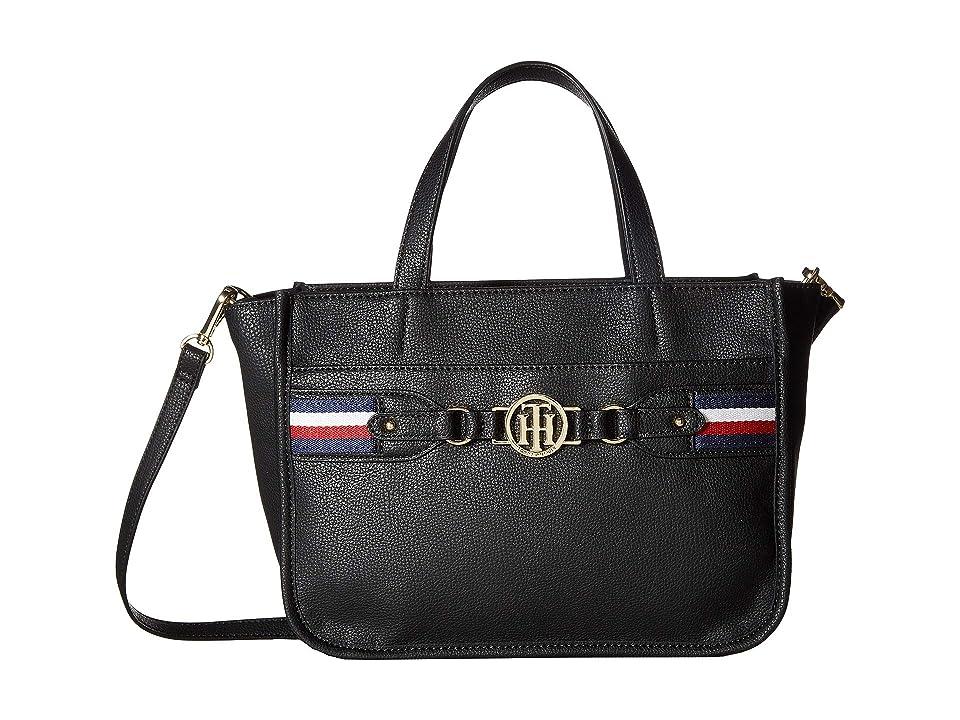 Tommy Hilfiger Brice Shopper (Black) Tote Handbags