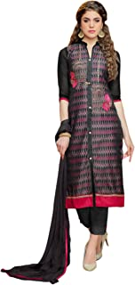 Rosaniya Salwar Suit Material cotton salwar suit for women readymade Dress Material For Womens Cotton Latest Dresses For Women latest dress for women 2019 (NMAL0009_Organza_Black_Semi Stitched)