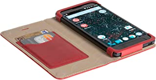 Official Krusell Kiruna Leather Flip Case for Silent Circle Blackphone 2 (Red)