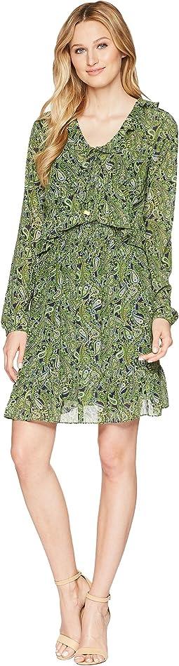 Ruffle Smocked Mini Dress
